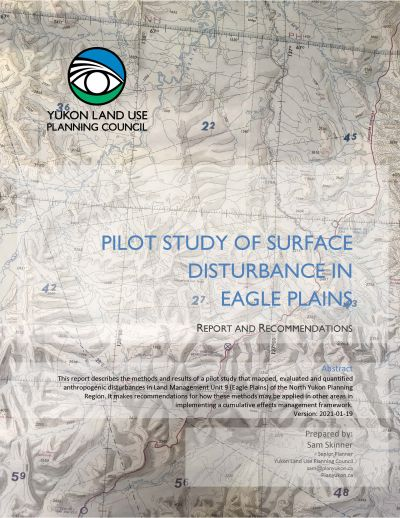 Eagle Plains Pilot Study Cover